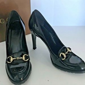 NEW Gucci Black Patent Leather Pump,